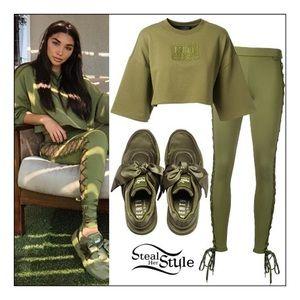 6955dfae9b54cd Puma Shoes - Puma X Fenty Rihanna Bow Sneaker Olive Branch